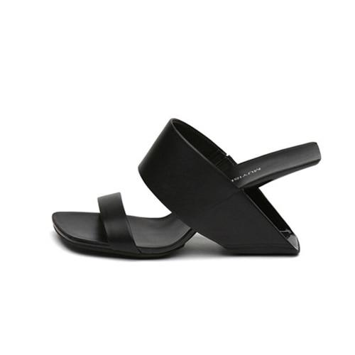 MUYI - Leather Mules - black / 4.5 - women's Shoes