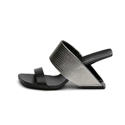 MUYI - Leather Mules - gunmetal / 4.5 - women's Shoes