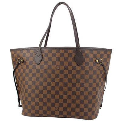 Louis Vuitton N41358 Neverfull MM Shoulder Bag Damier Ebene