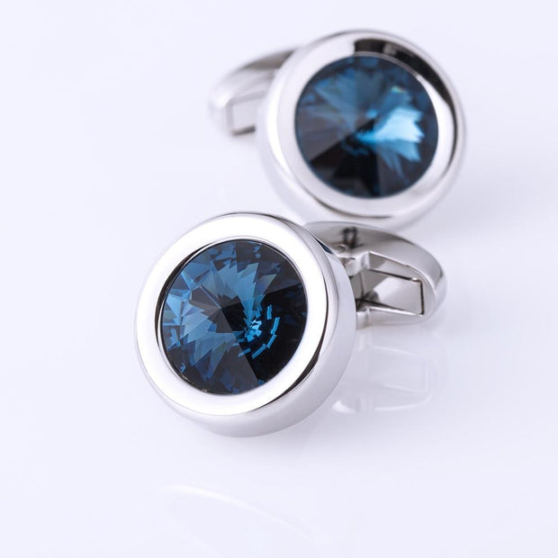 Orion Blue Stone Cufflinks - men's cufflnks