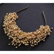 Pearl Tiara - Pure Gold Color - Hair Jewelry