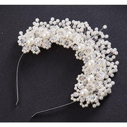 Pearl Tiara - Silver Plated - Hair Jewelry