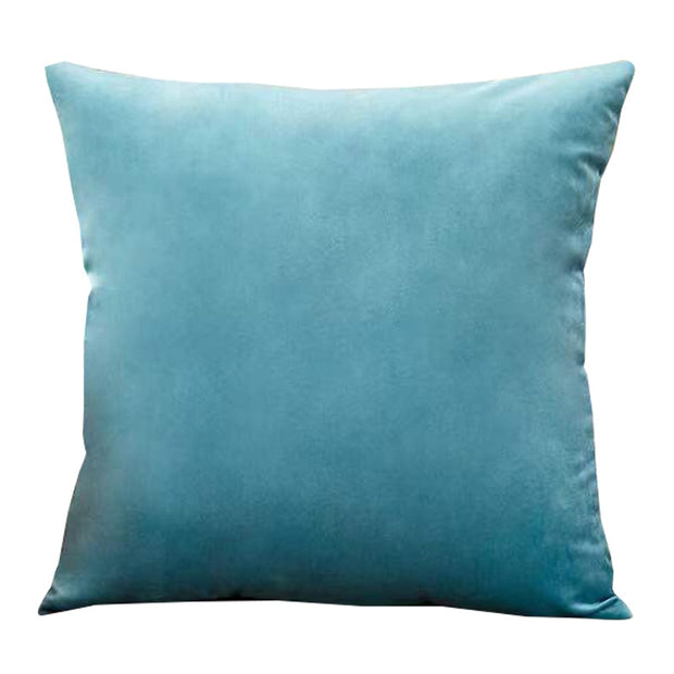Aqua Velvet Pillow Cover