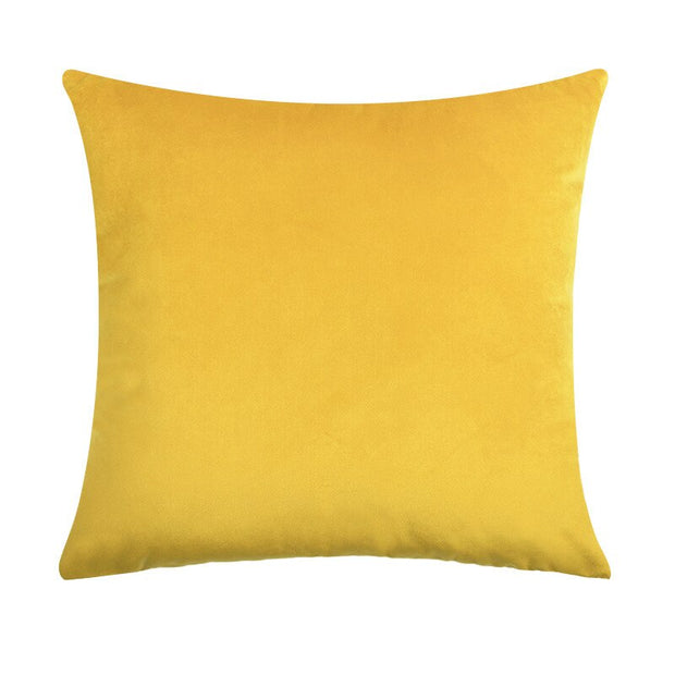 Yellow Velvet Pillow Cover