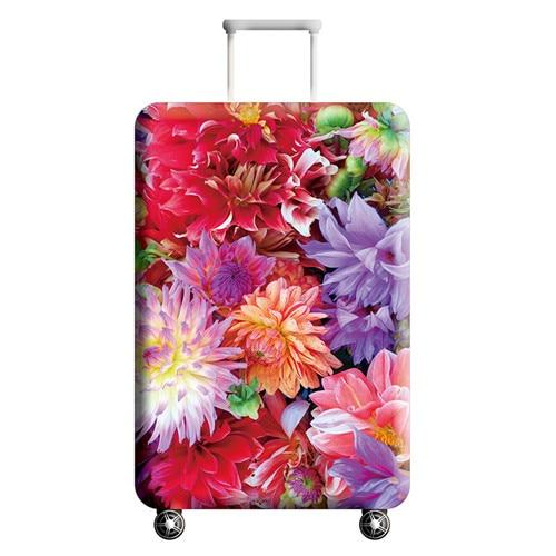 Pink Floral Travel Luggage Cover - 13 / L - Luggage covers