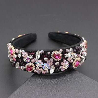 Pink Gems Headband - Hair Jewelry
