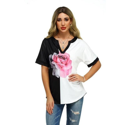 Pink Rose Blouse - Photo 1 / XL - women's clothing