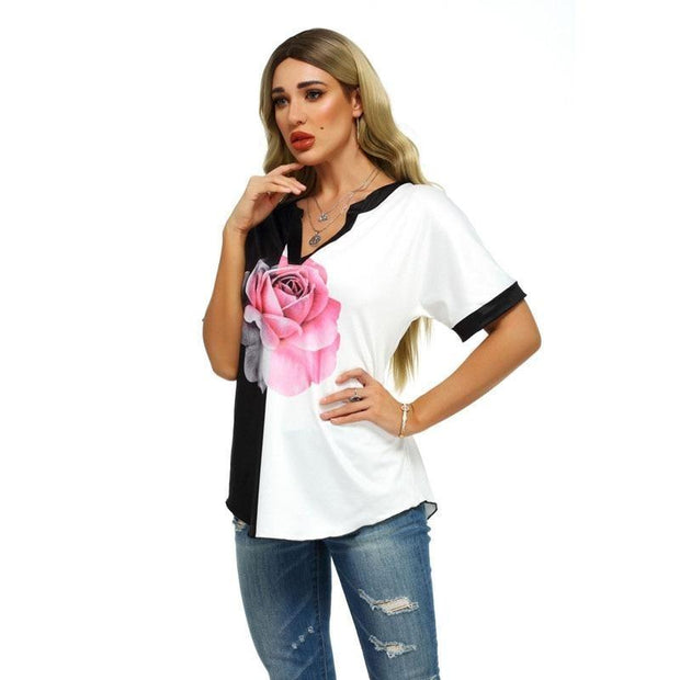 Pink Rose Blouse - women's clothing