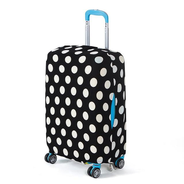 Polka Dot Luggage Cover - Black and white dot / L 24 -