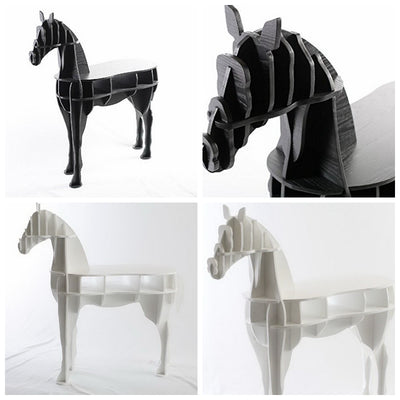 Horse Side Table-White