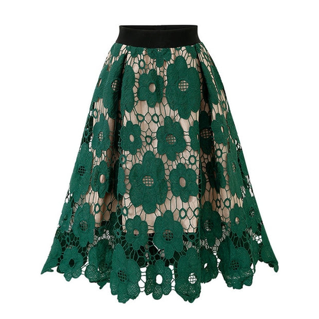 KIMBER - Floral Lace Skirt