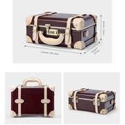 Genuine Leather Vintage Suitcase Black Set - Limited Release!
