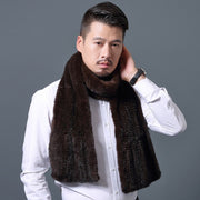 Christopher Mink Brown Fur Scarf