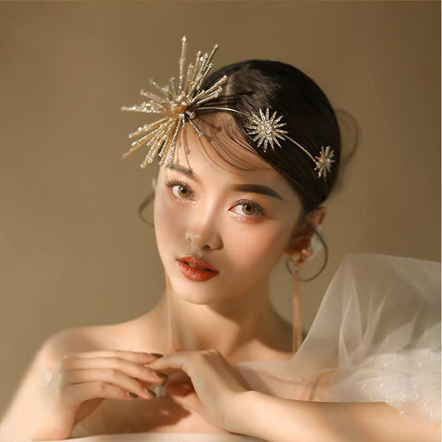 Exaggerated Gold Hairband