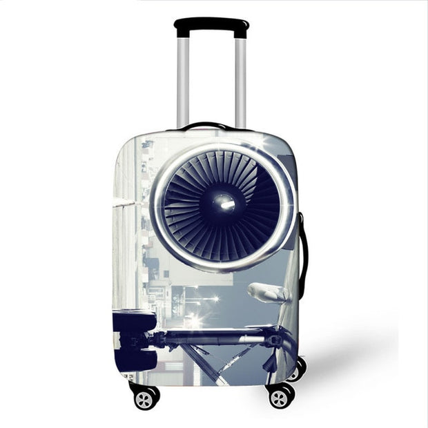 3D Gray Camera Luggage Cover