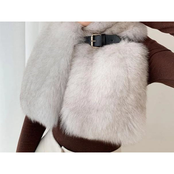 Madelyn Fur Scarf with a Belt