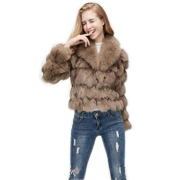 MELIA - Short Fox Fur Coat