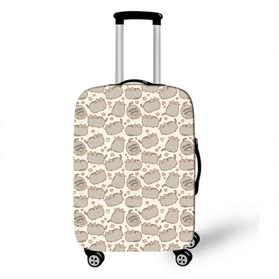 Pusheen Beige Luggage Cover