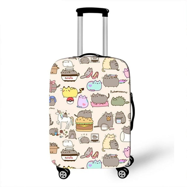 Pusheen Being Busy Luggage Cover