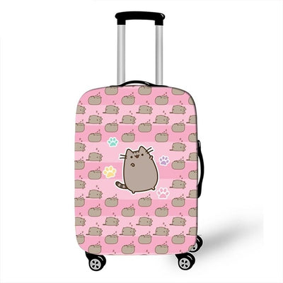 Pusheen Pink Luggage Cover