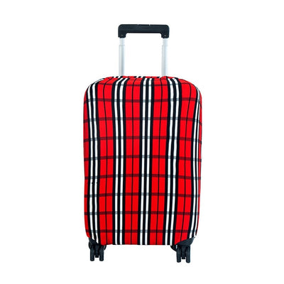 Red Plaid Luggage Cover