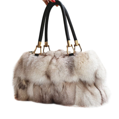Nova -Fox Fur Shoulder Bag
