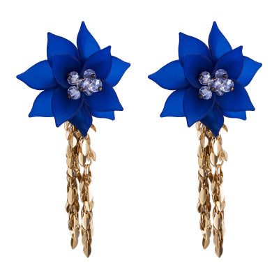RENI - Flower Fringed Earrings