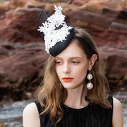 Crystal Applique Embellished Sinamay Fascinator