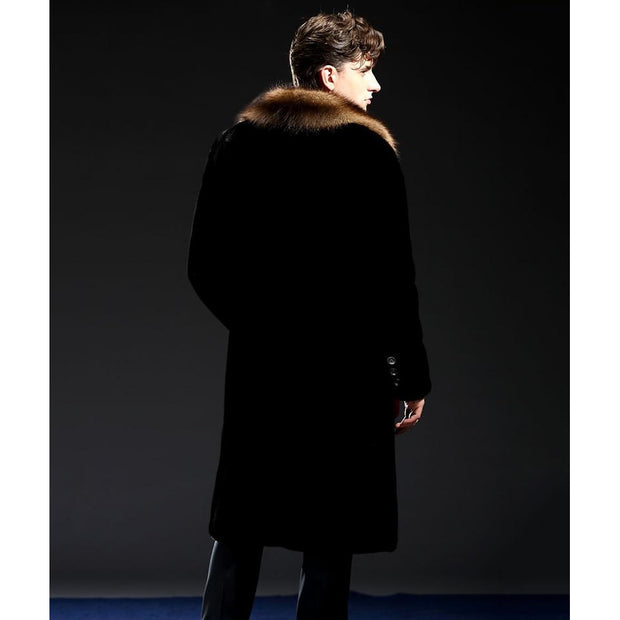 William Mink Fur Coat - Black