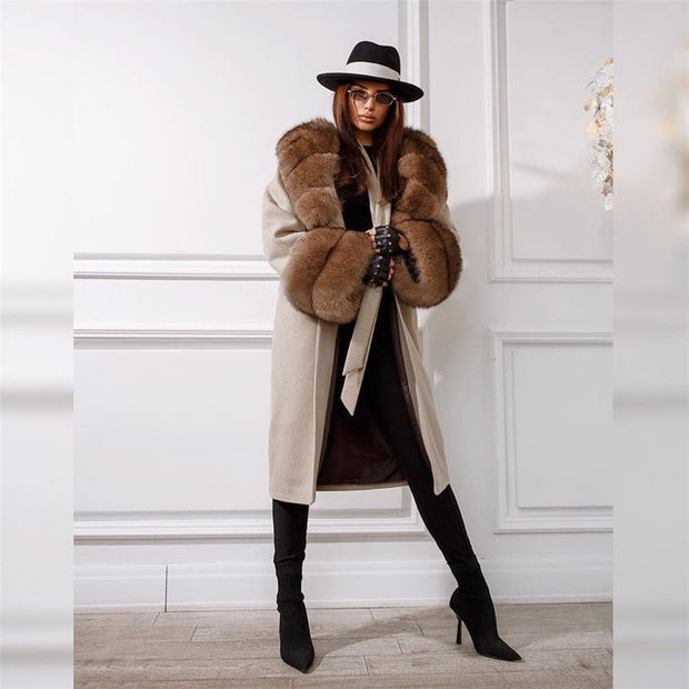 Grace- Wool with Fur Collar and Cuffs Coat