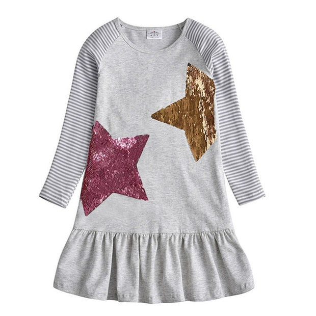 VIKITA - Reversible Sequin Star Playdress - RELH0777 / 8 -