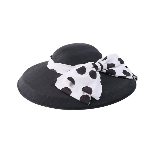 Polka Dot Bow Hat