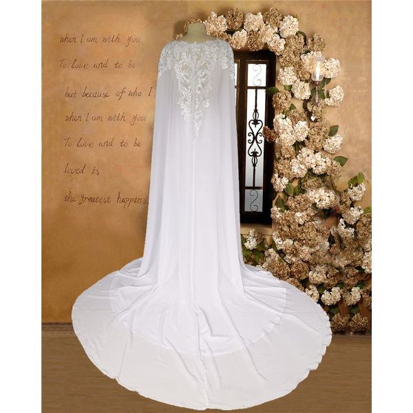 MILAN - Modern Mermaid Wedding Dress with Cape