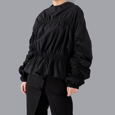 ANGELINE - Black Tiered Blouse