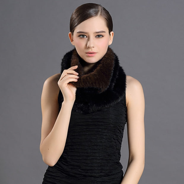 Mary Mink Brown and Black Fur Shoulder Shawl