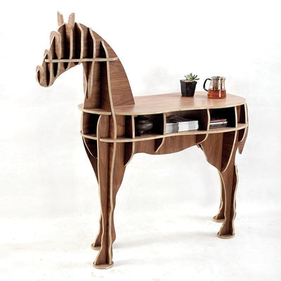 Horse Side Table-Walnut