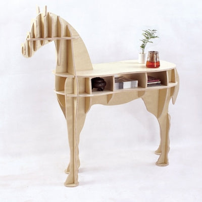 Horse Side Table - Birch
