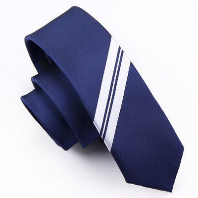 Modern Blue and White Striped Tie