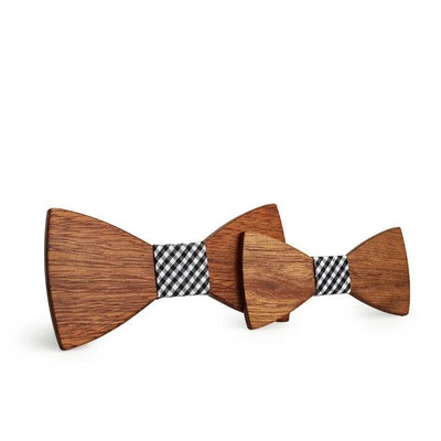 Father and Son Wooden Bowtie