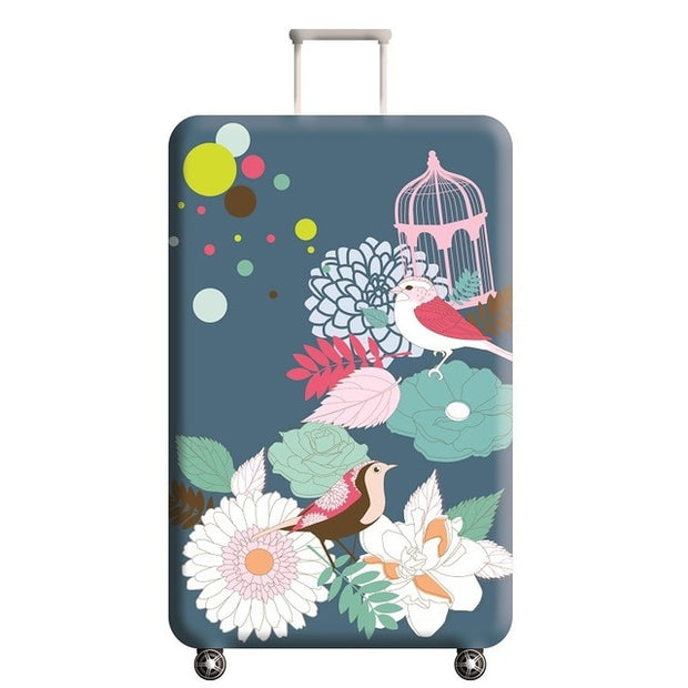 Birds and Flowers Suitcase Cover
