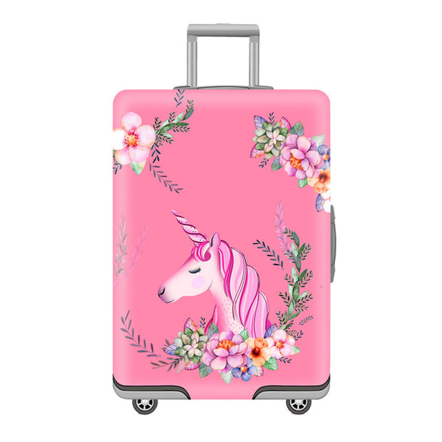 Pink Unicorn Luggage Cover