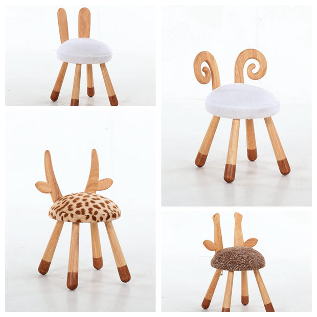 Wooden Animal Chairs-Bunny