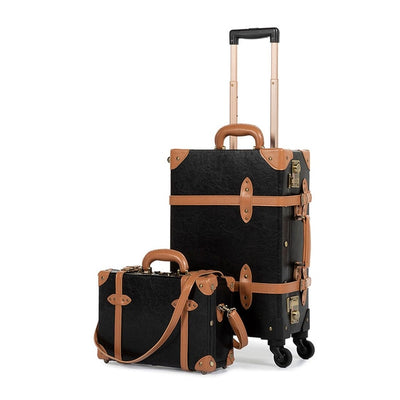 2 Piece Vintage Luggage Set