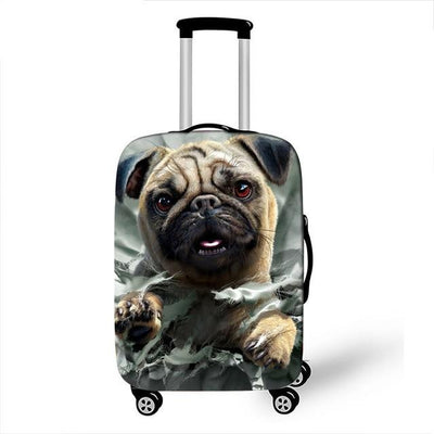Pug Luggage Cover - 15 / L - Luggage covers