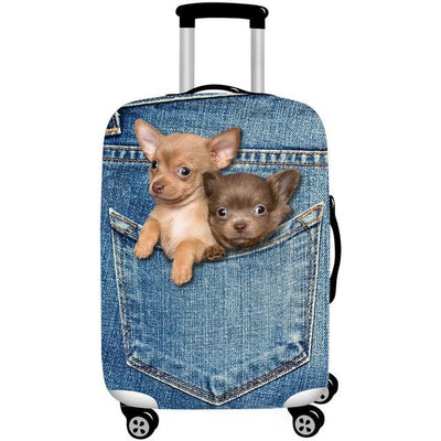 Puppies 3D Pattern Luggage Protection Cover - A Luggage