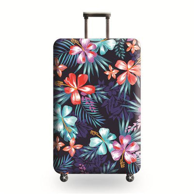 Purple Floral Travel Luggage Cover - Luggage covers