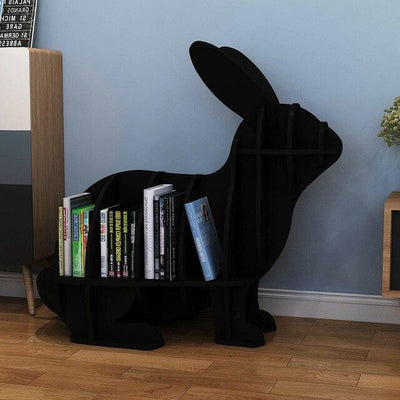 Rabbit Bookcase- Black - black-S - Decorative Objects