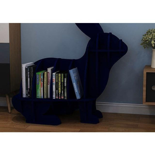 Rabbit Bookcase-Blue - blue-S - Decorative Objects