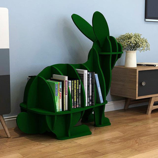 Rabbit Bookcase-Green - green-S - Decorative Objects