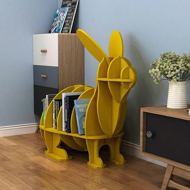 Rabbit Bookcase - Mustard - yellow-S - Decorative Objects